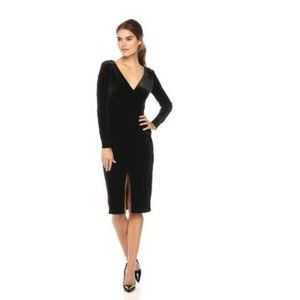Betsey Johnson M 8 black long sleeve velvet dress